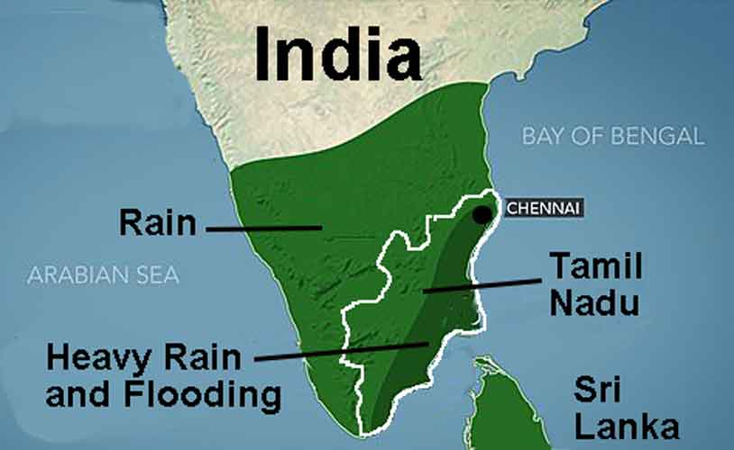 India Shrimp Farms in the Southeastern States of Andhra Pradesh and Tamil Nadu Hit by the Heaviest Rains in a Century